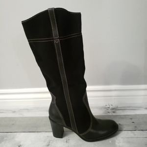 Franco Sarto Heeled Leather & Suede Boots